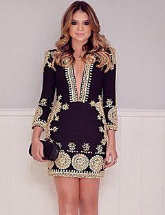 982b7bfff0 De las mujeres Corte Bodycon Vestido Noche Vintage