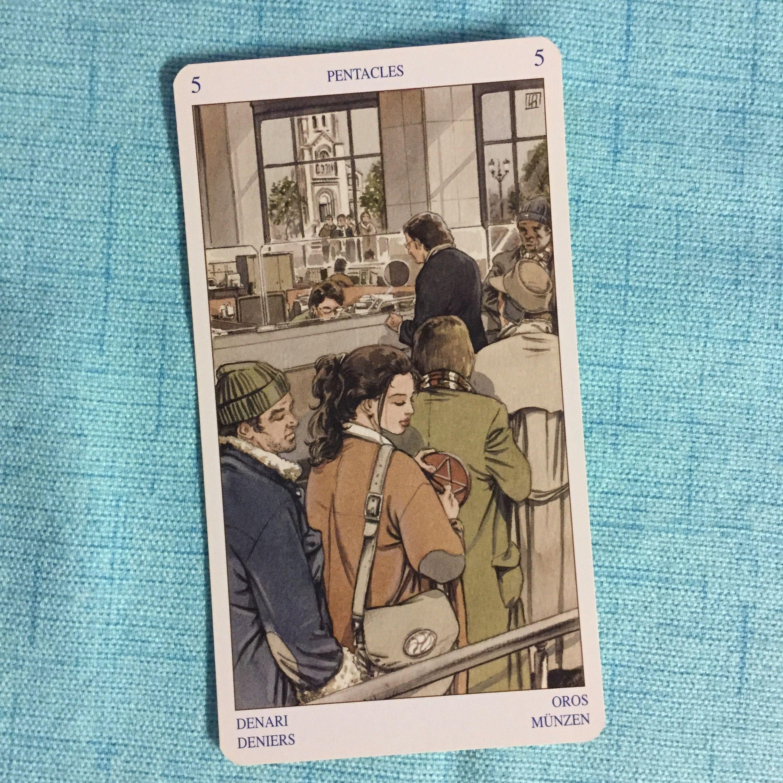 6 Oct Card 5 Of Pentacles Deck Pagan Tarot Reach Out Ask And