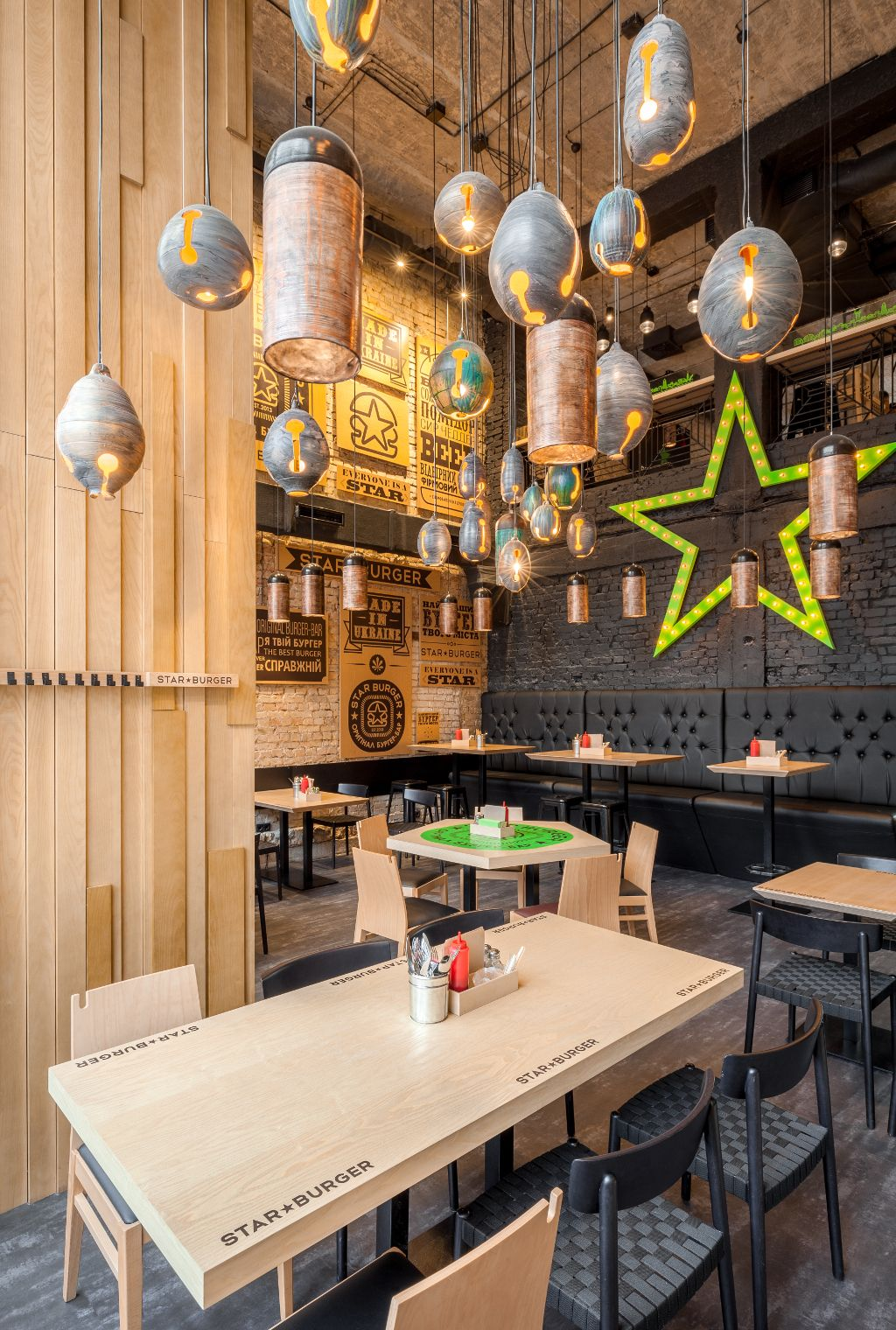 star burger #table #top #branding | interior • bar / restaurant