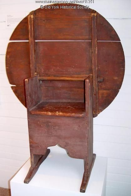 Chair/Table, possibly York County, ca. 1700-1730. Item # 11351 on Maine Memory Network