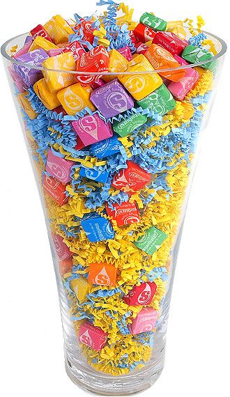 Love This Idea Great For A Filler In A Candy Bouquet Using A Clear