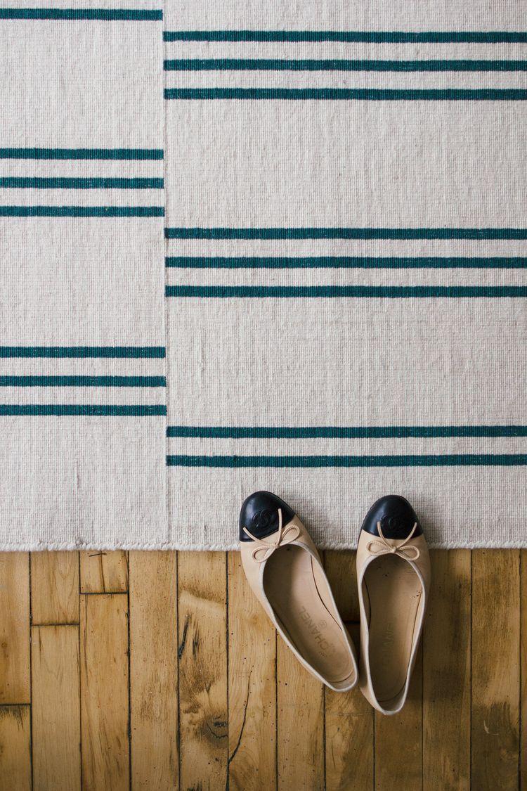Stripes Cream Green Nordic Knots Scandinavian Home Interiors Brick Patterns Cottage Rugs