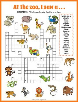 zoo animals crossword puzzle master 2 pinterest vocabulary words worksheets and students. Black Bedroom Furniture Sets. Home Design Ideas