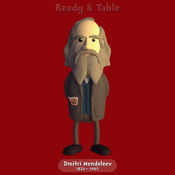 Dmitri Mendeleev Ready Table By Chay Hawes Chemist Inventor