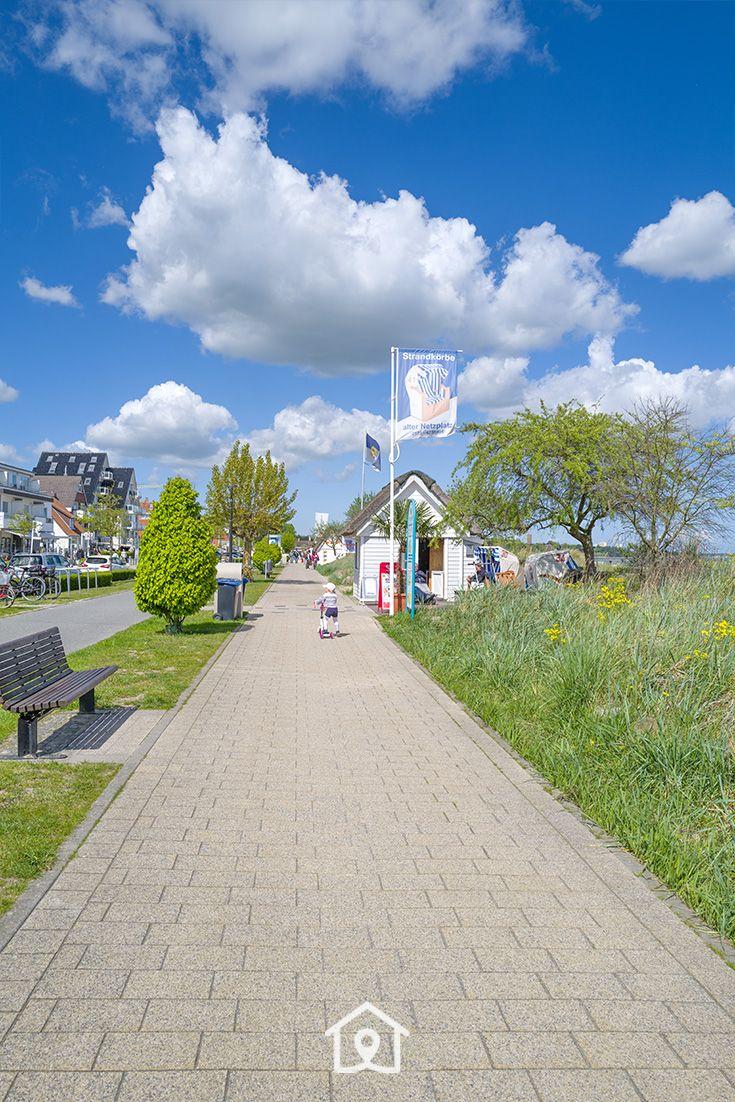 Promenade im Seebad Haffkrug, Scharbeutz, Schleswig