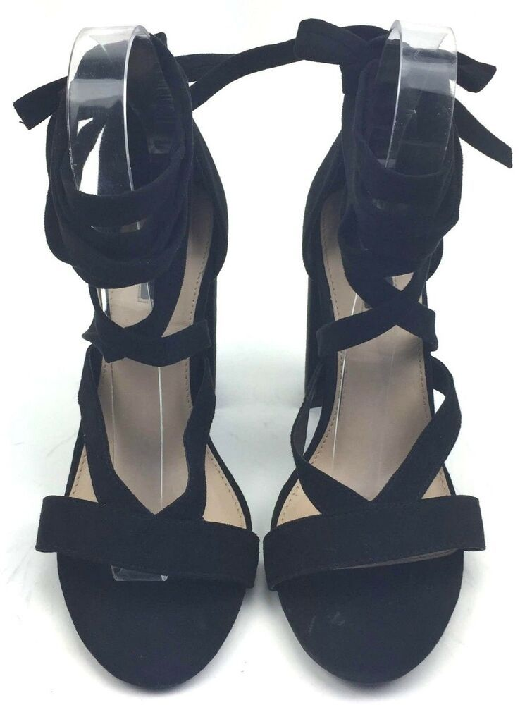 b65a691939c Forever 21 Women Shoes High Block Heels Ankle Straps Peep Toe ...