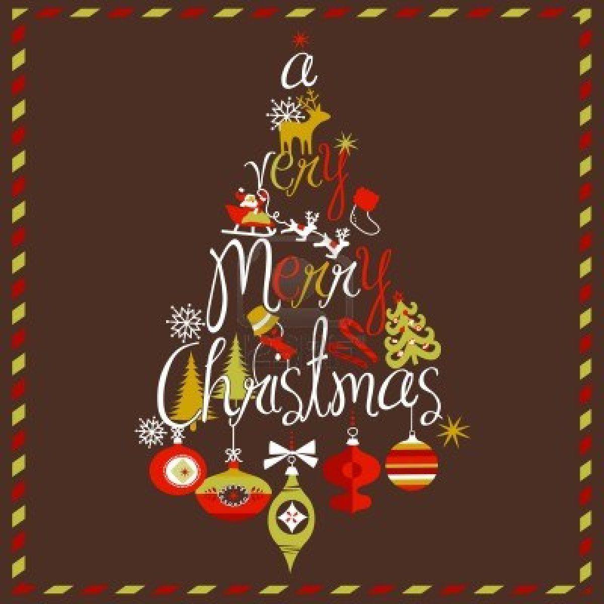 """""""非常にメリークリスマス""""ツリーの設計 ストックフォト - 11150426"""