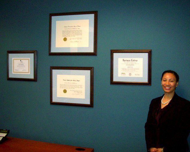 Diploma Framing And Installation For Attorney Candice Mckinley Atlanta Georgia Www Framedartexpert Com Clients Html Frame Diploma Frame Diploma