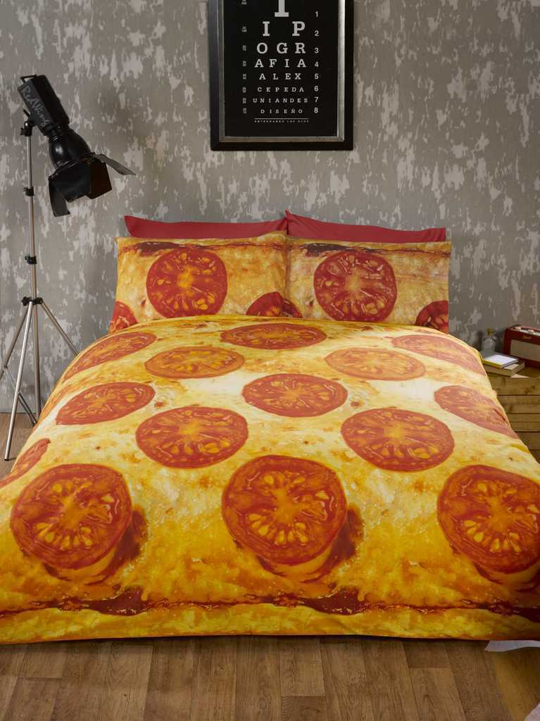 Pizza Photographic Take Away Packed Duvet Quilt Cover Bedding Set