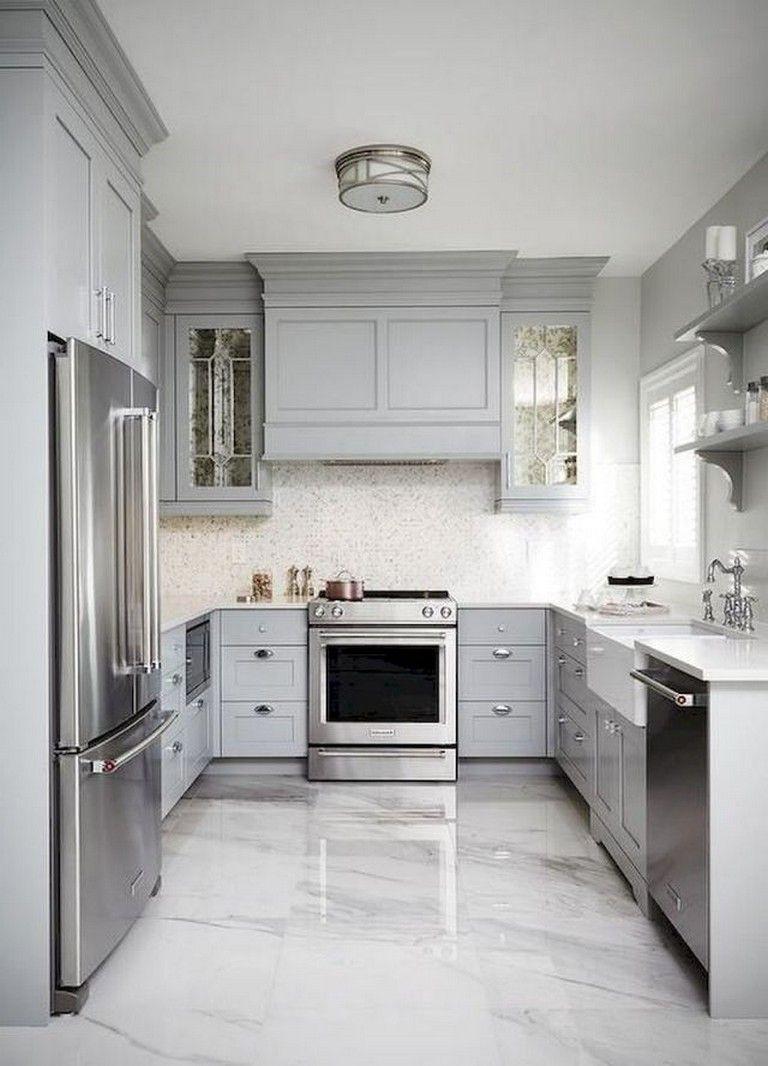 70 amazing farmhouse gray kitchen cabinet design ideas best flooring for kitchen kitchen on farmhouse kitchen grey cabinets id=25365