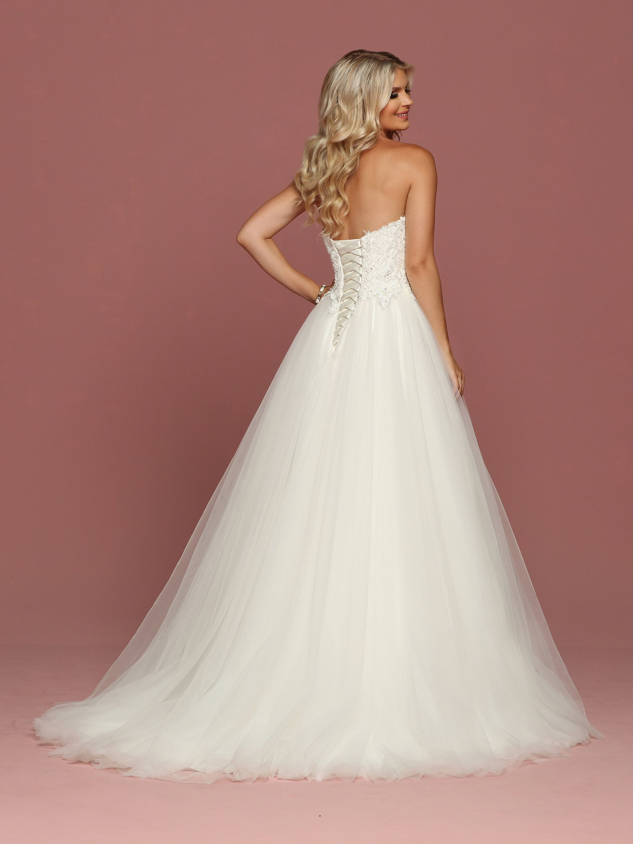 Back view of style davinci bridal pinterest wedding