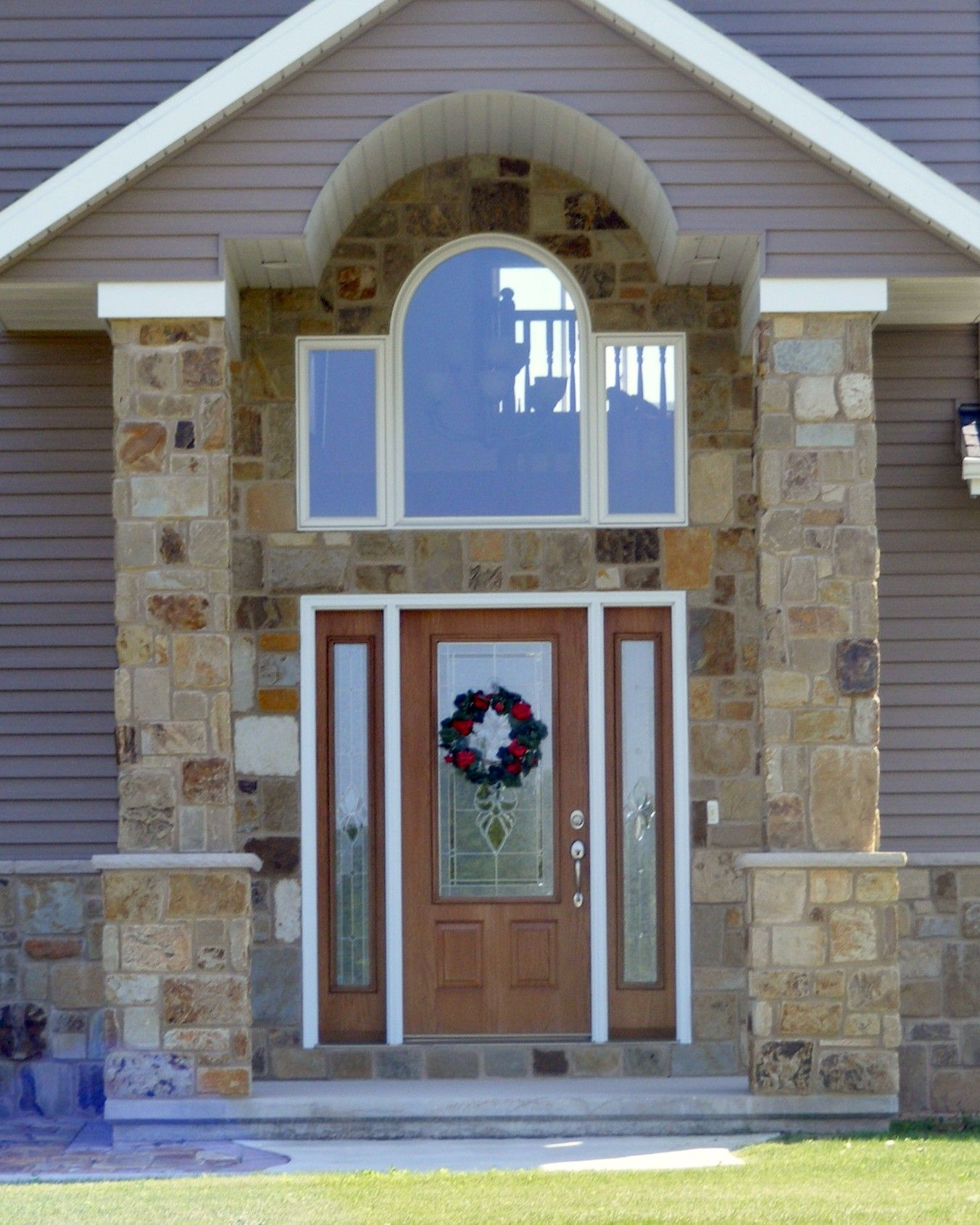 Taylor Stainable Steel Door With Sidelights From Waudena Millwork