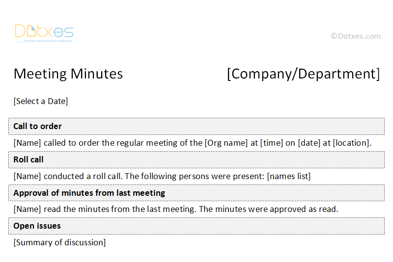 formal meeting minutes template 12 featured image