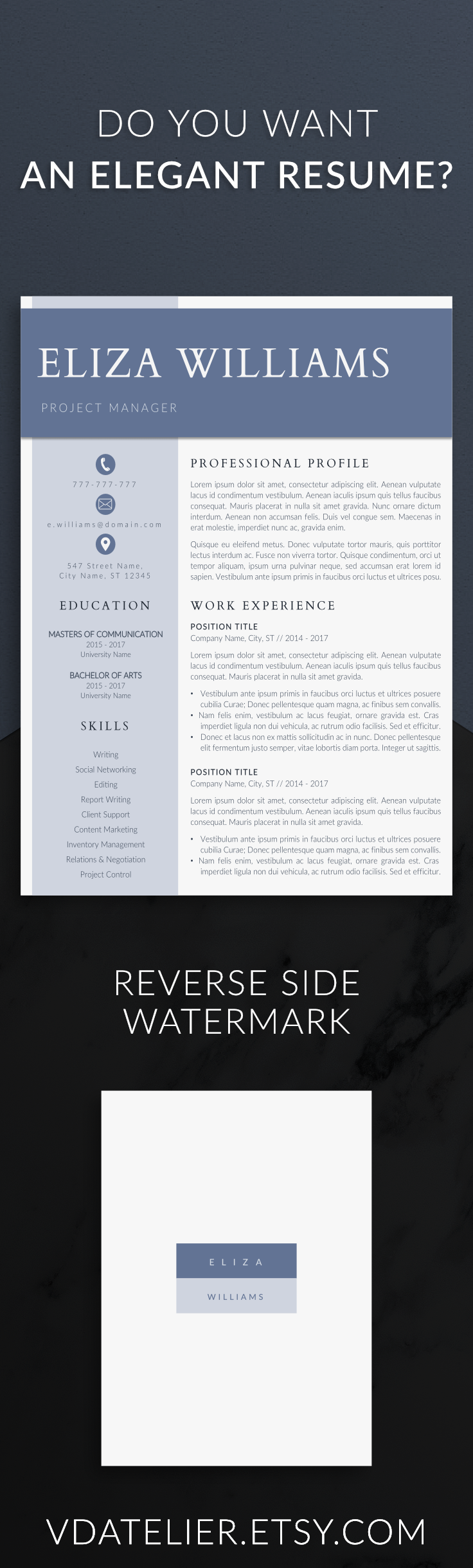 Modern And Minimalist Resume Template For Serious Professionals