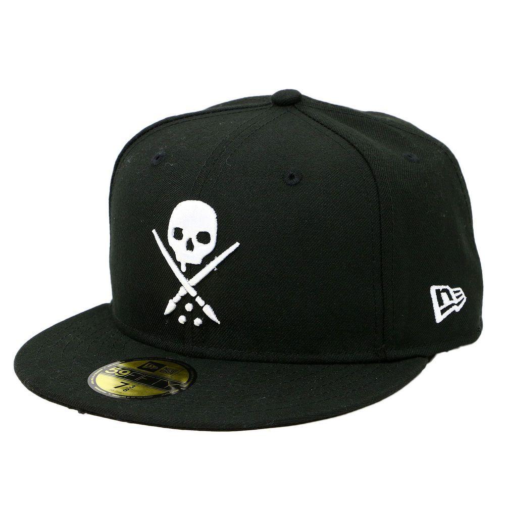 08ac1169b699d Sullen Art Collective Eternal Hat Mens NE New Era Fitted Baseball Cap Black   Sullen  BaseballCap