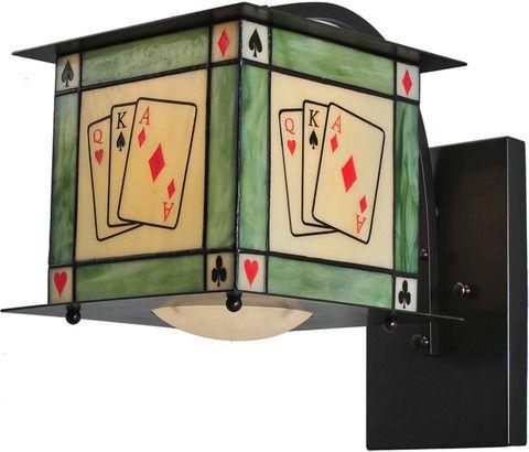Texas Hold Em 1 Light Curved Arm Wallsconce Black 105725