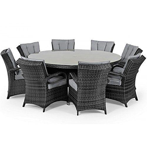 diego rattan outdoor garden furniture houston grey 8 seater round