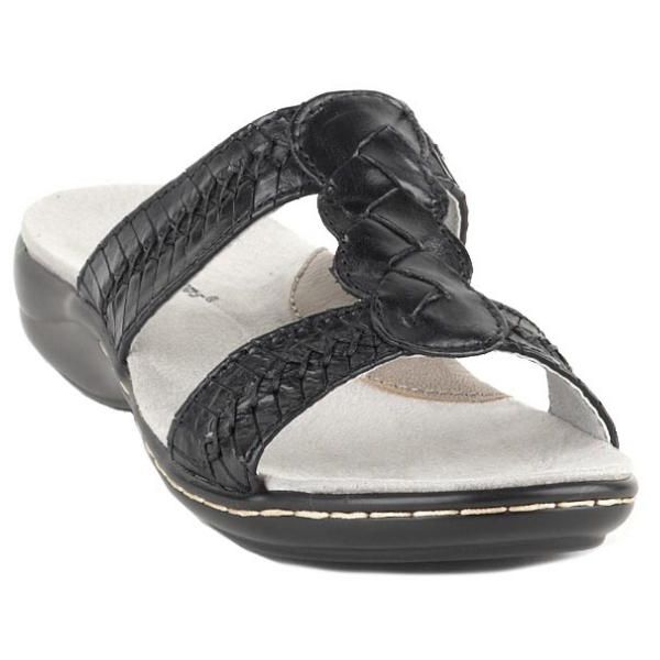 Don't worry about messing up your new #pedicure after leaving the salon. Open leather #sandals are a better solution than walking out in toe separators. Kaylen by Bare Traps. $53.99