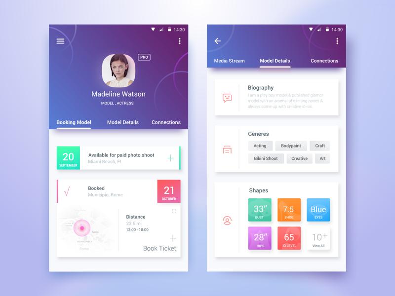 50 user profile page design inspiration muzli design for Room design web app