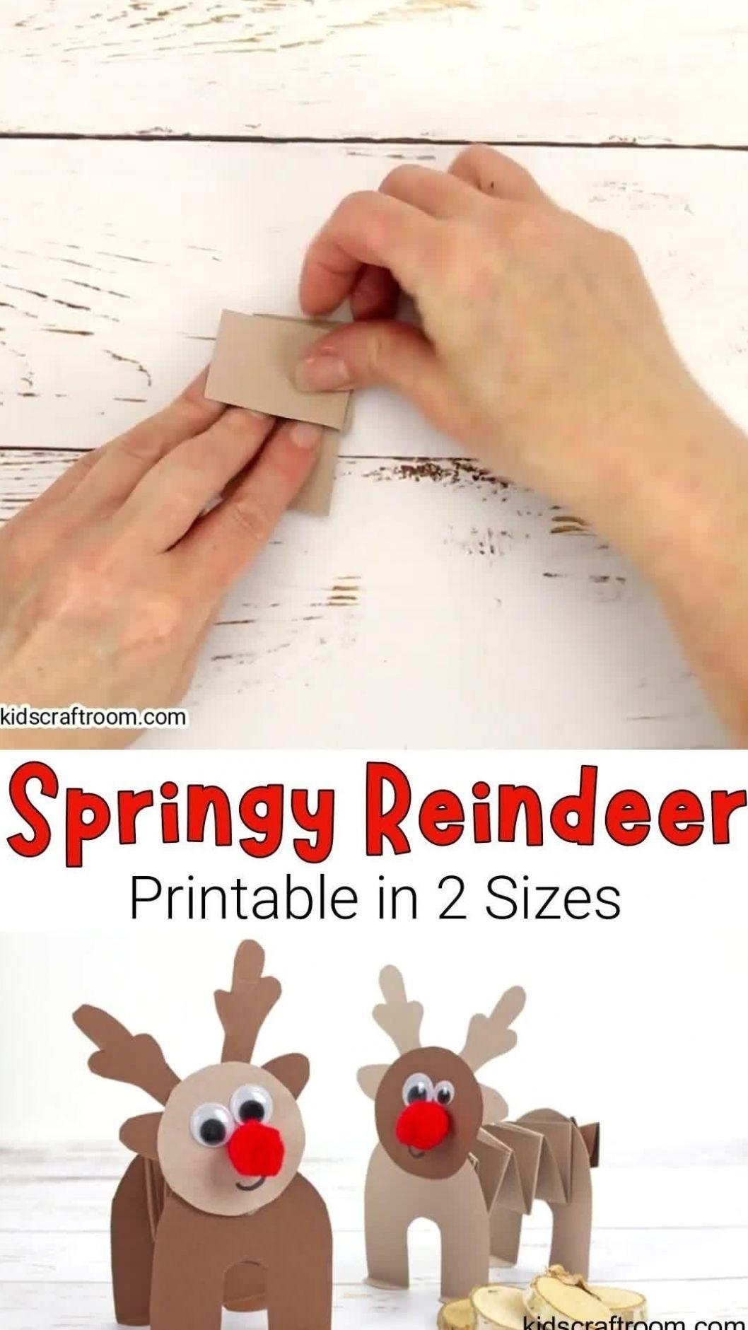 Printable Paper Reindeer Craft -   15 christmas crafts ideas