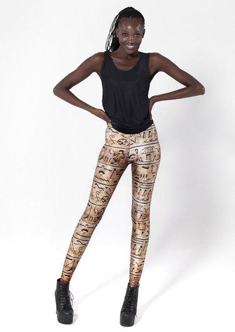 FREE SHIPPING 2013 new hot women's fashions Ancient Egypt demotist print yoga Leggings MIlk Pants Sexy slim  for women