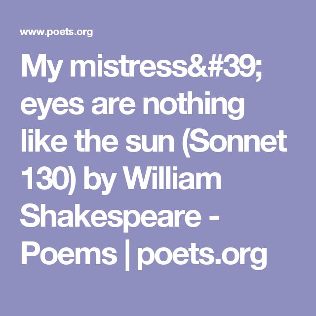 shakespeare love sonnet 130