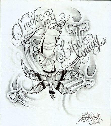 3cb41e4cc7424 Evil Tattoo Flash Art | Tattoo Flash, Aztec, Evil, Gangster, Prison, Cars,  Chineese, Women .