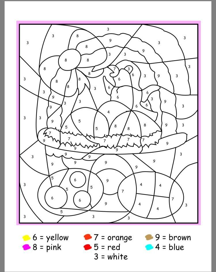 Versatile image pertaining to easter color by number printable