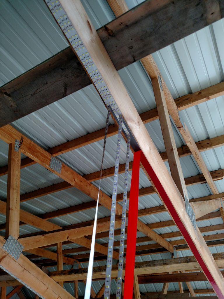 Inexpensive garage lights from led strips garage garage lighting