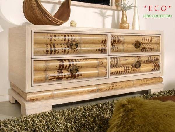 Schlafzimmer Bambus ~ Bambus sideboard cebu eco hell groß 4 schubladen bambusmöbel