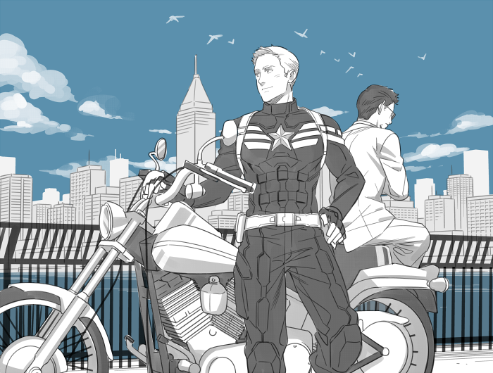 "rogers-and-stark: "" The Avengers : Steve/Tony by ~kcy2292 """