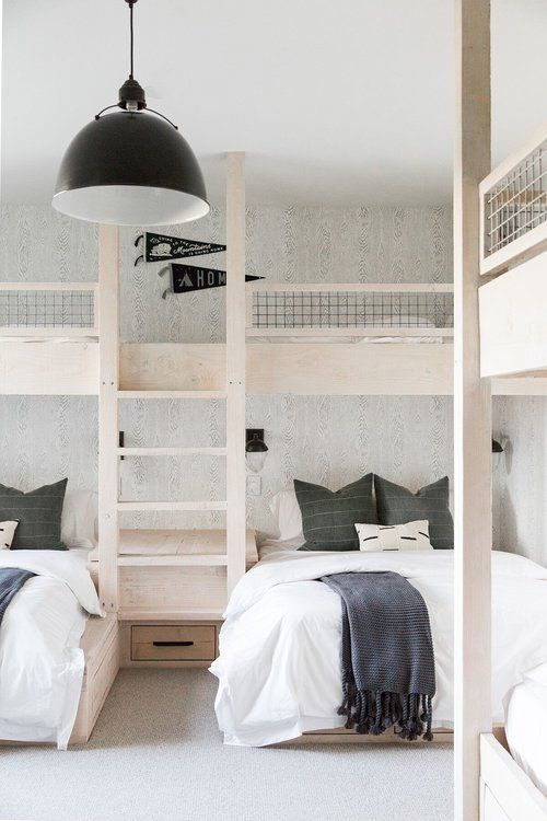 10x10 Room Design: Built In Bunks, Modern Bedroom, Small