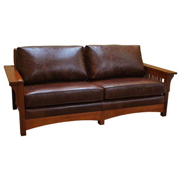 Mission Spindle Sofa Leather