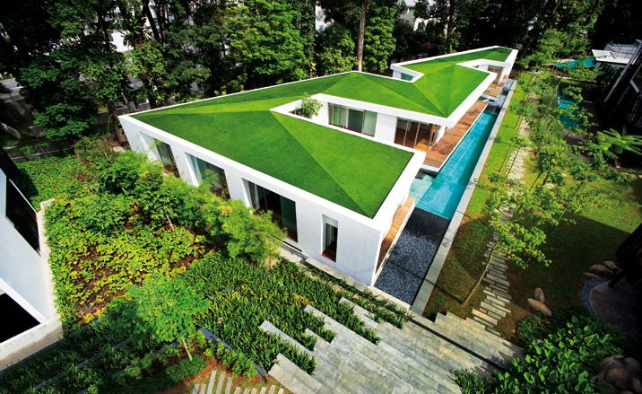 I No Boundaries The Lien Villas Collective Architecture Wallpaper Magazine Screen House Green Roof Singapore House