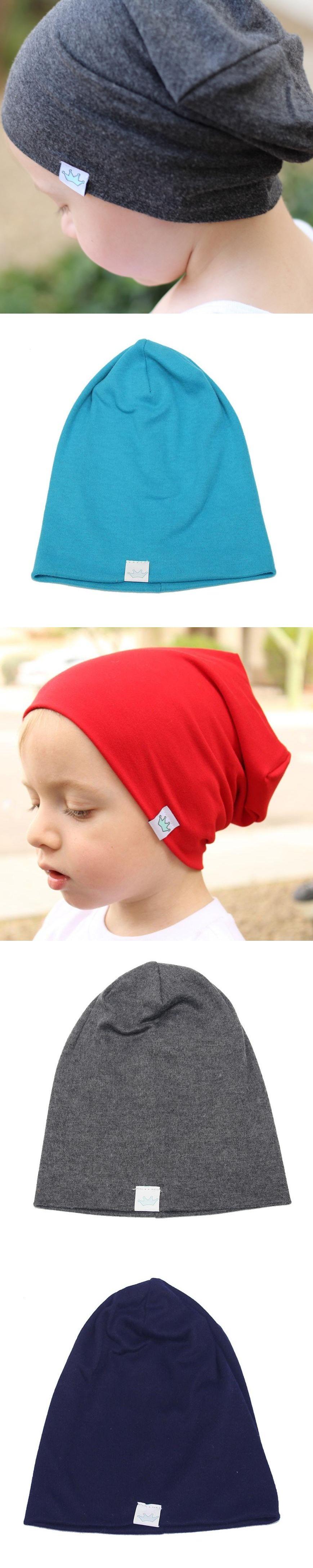 619885f8f83 Solid Baby Winter Hat Bonnet Enfant Kids Baby Boy Girl Infant Cotton Soft  Warm Hat Beanie
