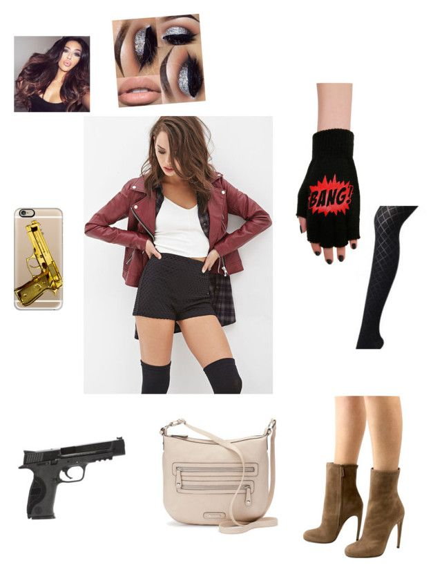 """outfit 9"" by beauitfulasiam on Polyvore featuring Forever 21, Gucci, Casetify, Smith & Wesson and Rosetti"