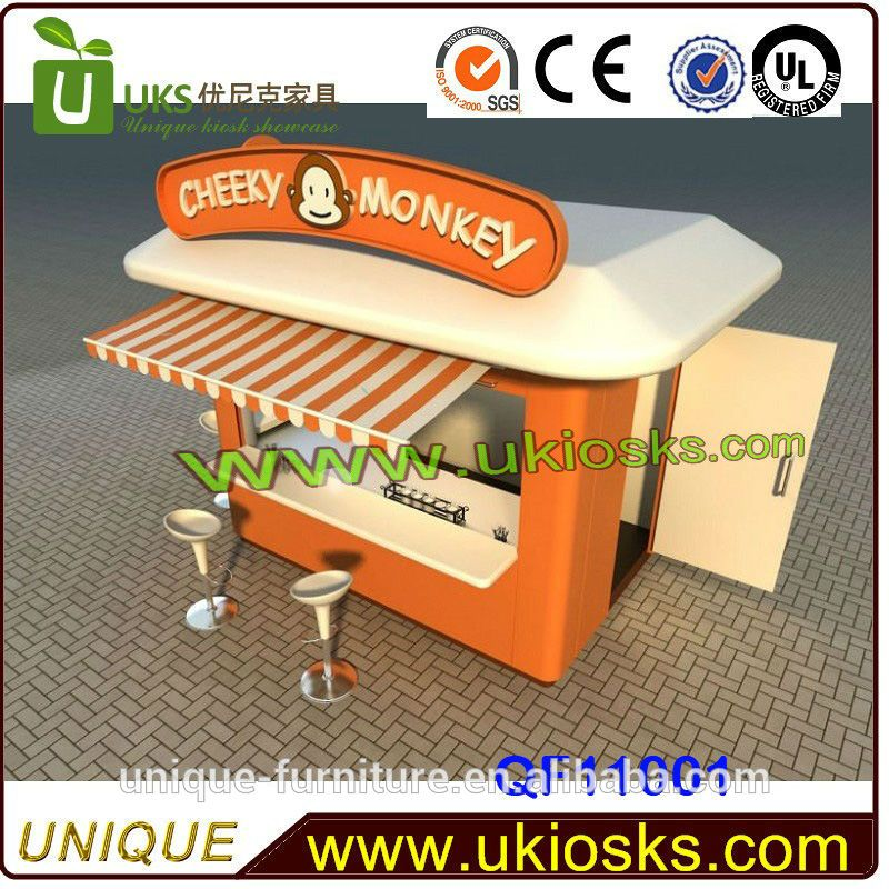 Iso Approved Customized Food Kiosk Cart,Food Kiosk Design,Fast Food