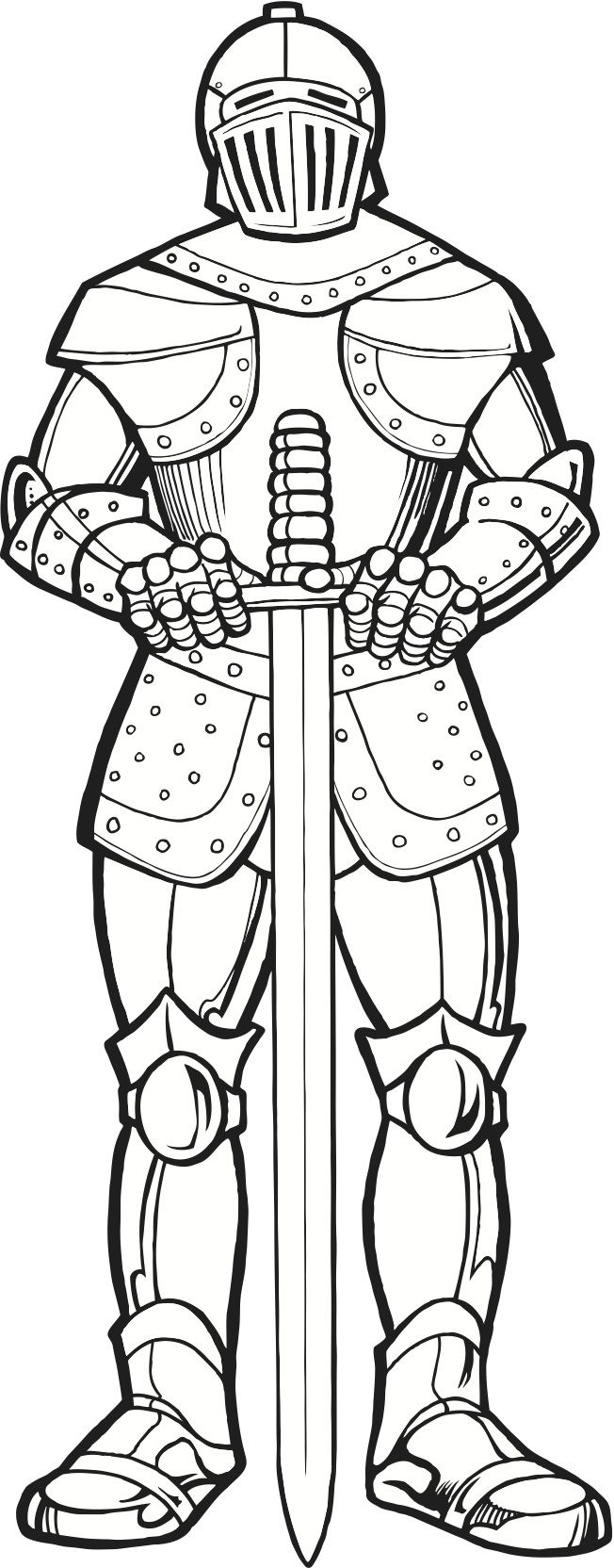 Make Suit Of Armor Out Cardboard Knight In Coloring Page