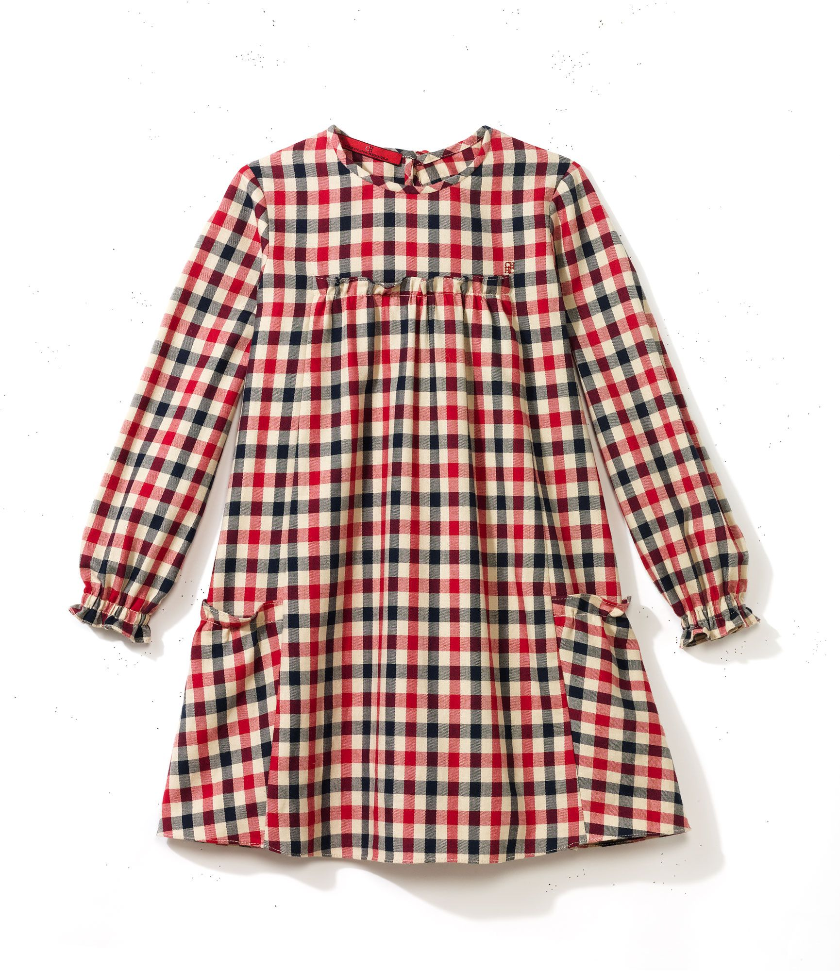 Toddler Girl Size 12-18 Months Gray GAP Baby Green /& Pink Plaid Flannel Dress