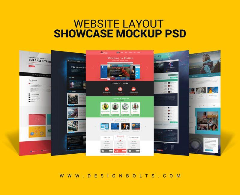Free Website Layout Design Showcase Mock Up Psd For Web Designers Website Layout Website Design Layout Website Mockup Free