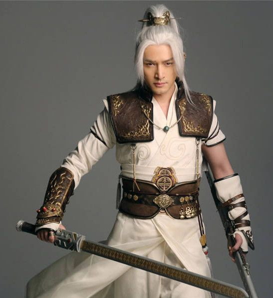 e5516cd69 Ancient Chinese Hero Armor Costumes Swordsman Hanfu Clothing Complete Set  for Men and Teenagers
