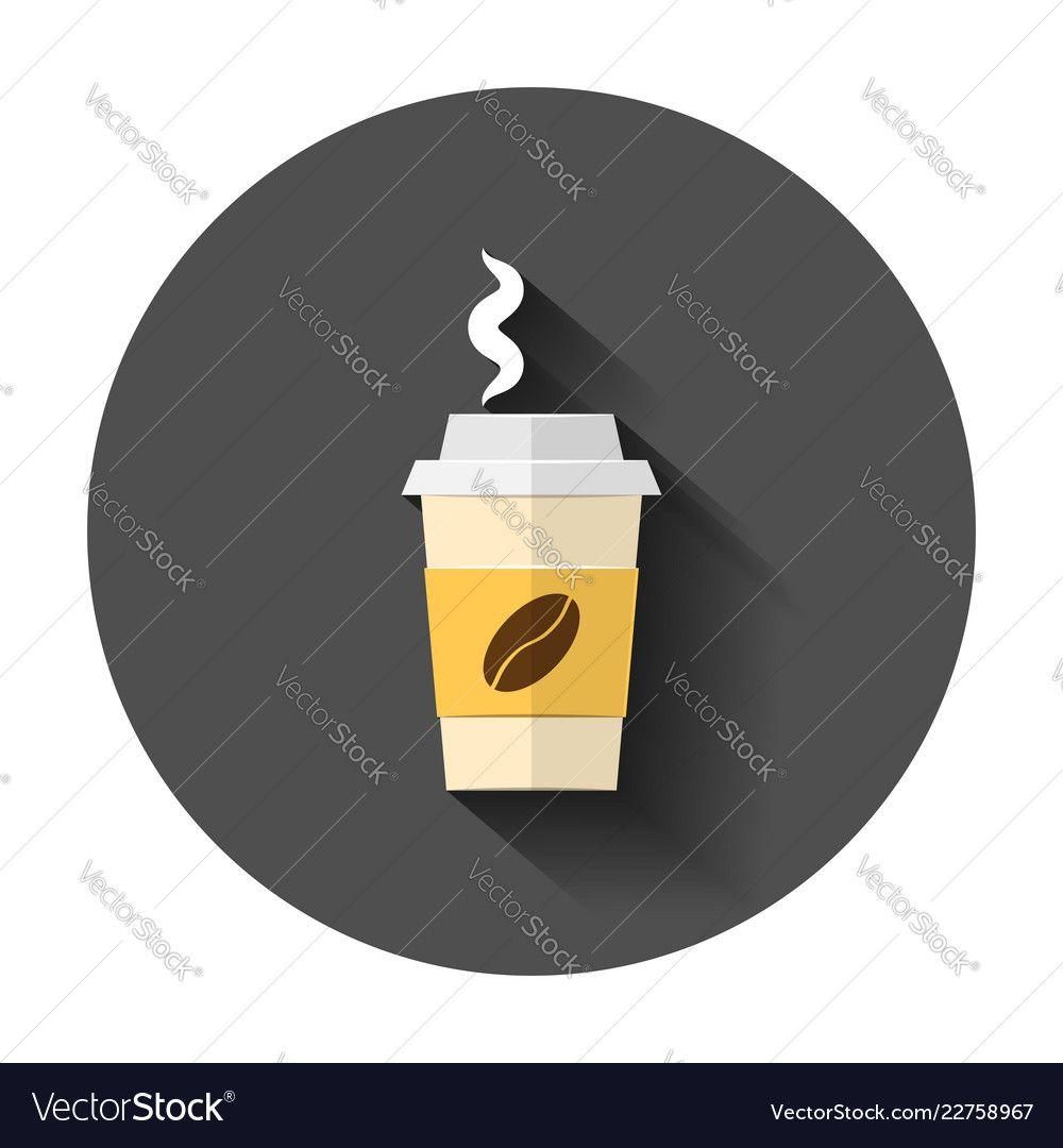 Coffee, tea cup icon in flat style. Coffee mug vector
