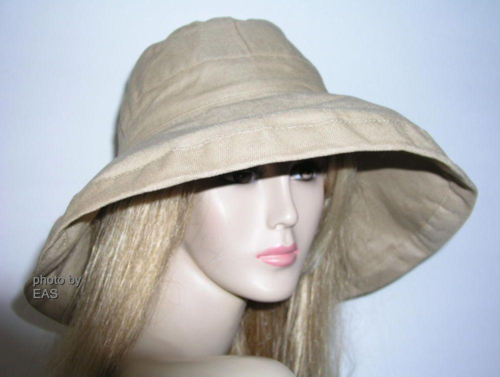 Ladies Khaki Scala Hat Wide Brim UV Sun Protection UPF 50+ LC-399- 0eab09750338