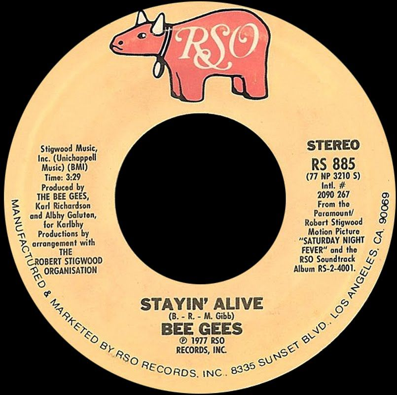 Bee Gees Stayin Alive 1977 Disco Purrfection Version Bee Gees Disco Music Alive Lyrics