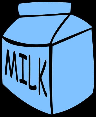 Illustration of a carton of milk.