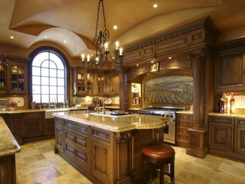 Decoracion De Cocinas Clasicas | Fotos De Cocinas Clasicas Con Muebles De Madera Decoracion De