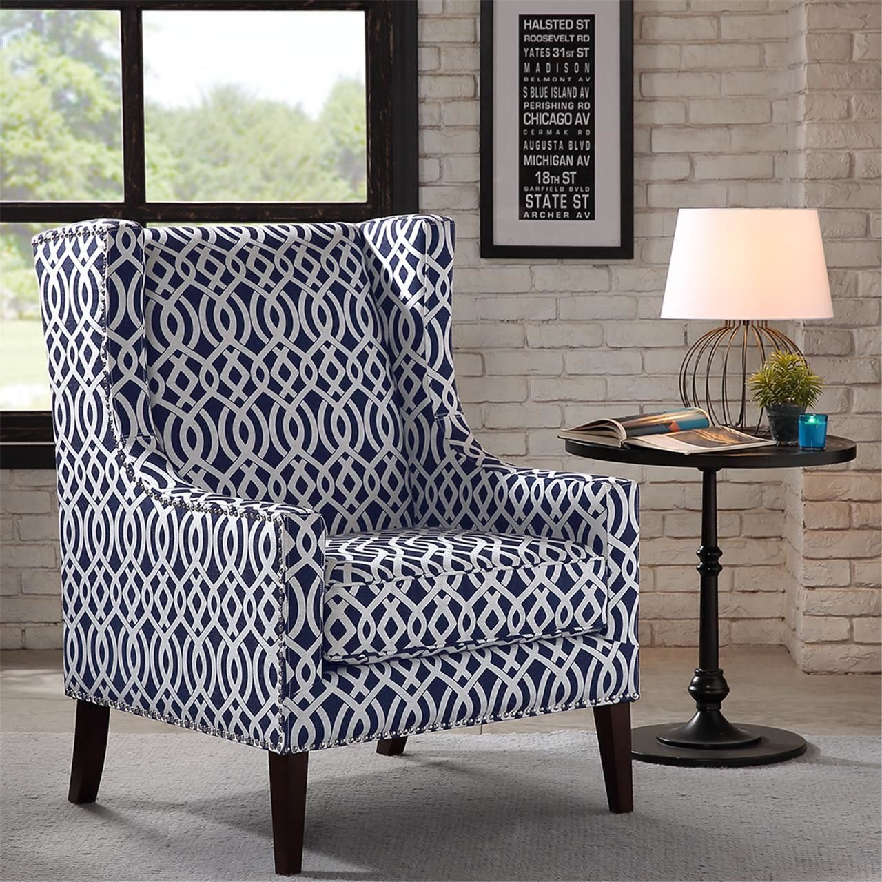 Breakwater Bay Lotus Wing Arm Chair From Wayfair   Could Be A Cute Accent  Piece !