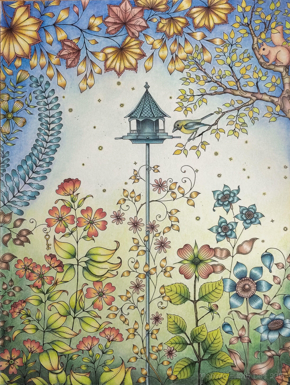 Secret Garden Artist S Ed Coloured By Morena Vajak Johannabasford Mycrea Secret Garden Coloring Book Gardens Coloring Book Johanna Basford Coloring Book