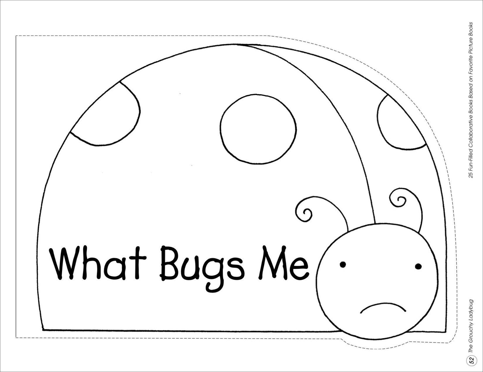The Grouchy Ladybug Collaborative Book Printables Ladybugs