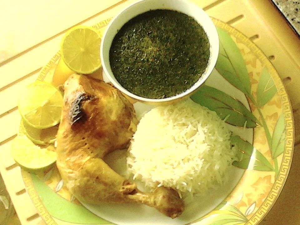 Mulukhiyah With White Rice Chicken A Stew With Mallow Leaves Chicken Beef And In The Lebanese Fashion Lebanese Recipes International Recipes Pita Chips